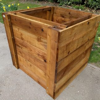 Wooden Compost Bin Single Close-Boarded w90cm x d90cm x h90cm 3